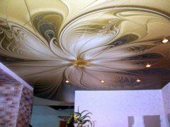 Оригинальный дизайн интерьера с натяжным потолком