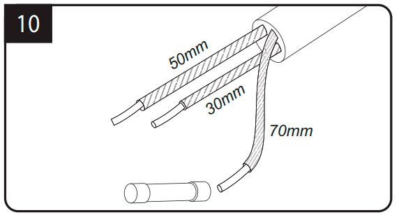 заземляющая жила расстояния при разделке кабеля