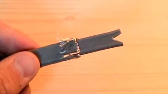 правильная заделка конца греющего кабеля