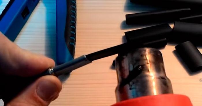 снятие матрицы с греющего кабеля