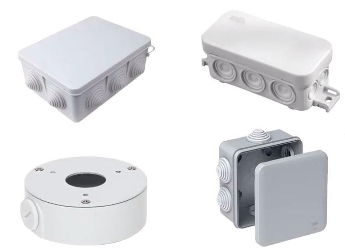 защитные коробки боксы для подключения видеонаблюдения
