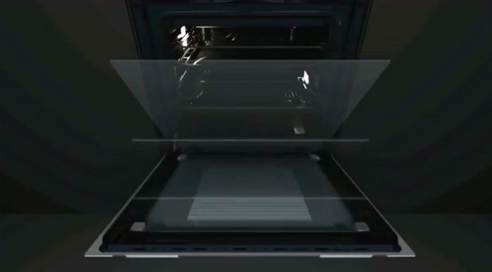 трехслойное остекление в дверце духовки