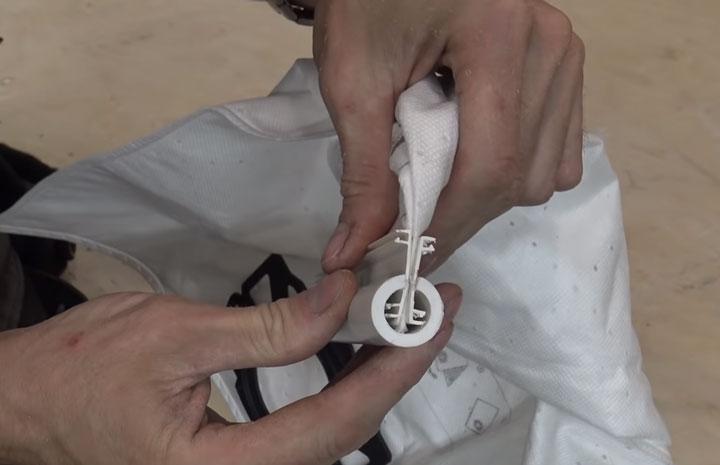 как сделать многоразовый фильтр мешок для строительного пылесоса из одноразового от керхер