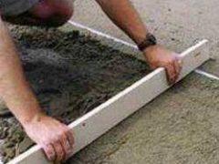Создание бетонной подготовки под полы
