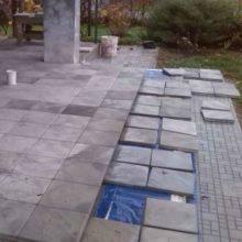 Укладка бетонной плитки на террасу