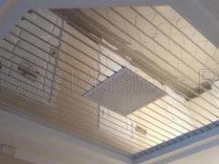Реечные алюминиевые потолки. Установка