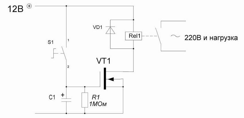 Схема реле на одном транзисторе