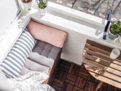 Диван на балкон с ящиком для хранения: комфорт без компромиссов