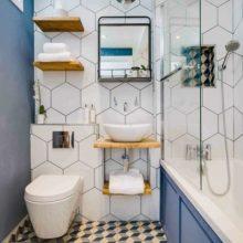 Полки для ванных комнат: виды, материалы и стилевое оформление